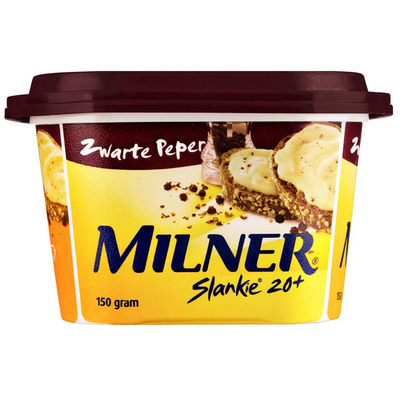 Milner Slankie smeerkaas zwarte peper 20+