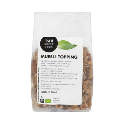 Raw Organic Food Muesli Topping