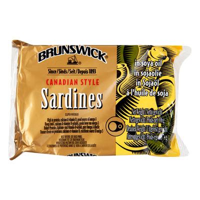 Brunswick Sardines in soja olie