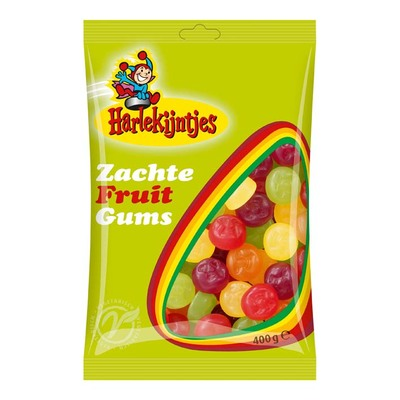 Harlekijntjes Zachte fruitgum veggie