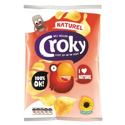 Croky Chips Naturel 100 Gram