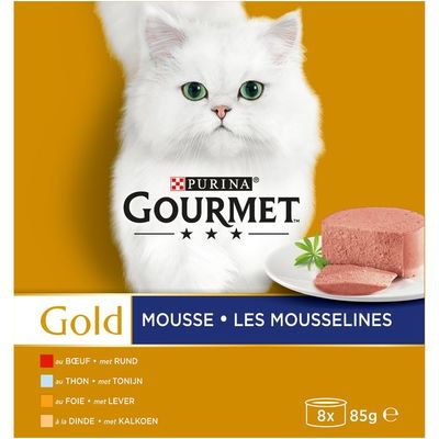 Gourmet Gold mousse 8-pack o.a. met tonijn