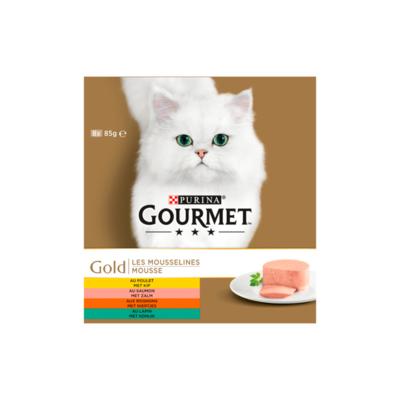 Purina Gourmet Gold Mousse 8-pack o.a. met Kip