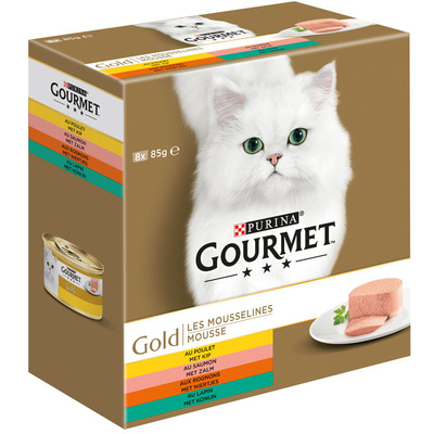 Gourmet Gold mousse 8-pack o.a. met kip