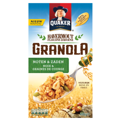 Quaker Havermout Granola Granen Noten & Zaden 450g