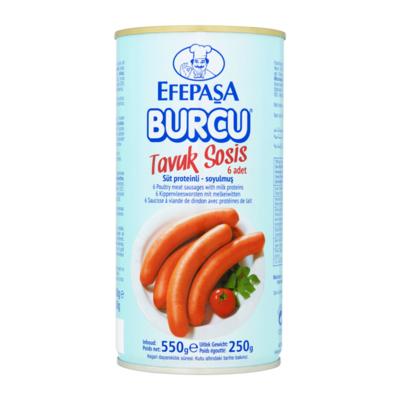 Efepasa Burcu Kippenvleesworsten met Melkeiwitten 6 Stuks