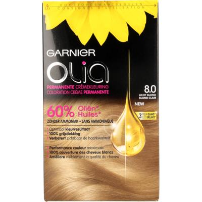 Garnier Olia Permanente Kleuring 8.0 Licht Blond