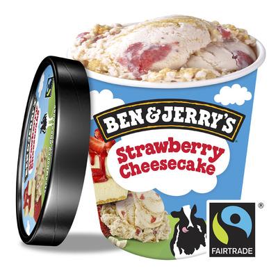 Ben & Jerry's Classic ijs strawberry cheesecake