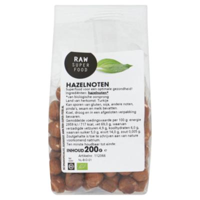 Raw Organic Food Hazelnoten raw- bio