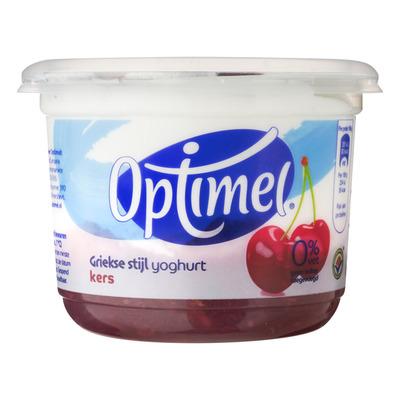 Optimel Griekse stijl yoghurt 0% vet kers