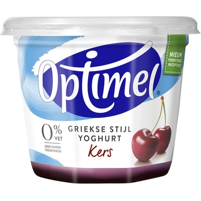 Optimel Magere Griekse stijl yoghurt kers