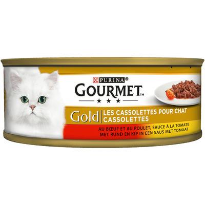 Gourmet Gold cassolettes met rund en kip