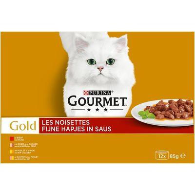 Gourmet Gold fijne hapjes 12-pack o.a. met rund