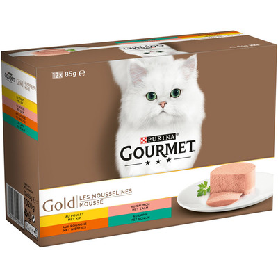Gourmet Gold mousse 12-pack o.a. met kip