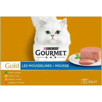 Gourmet Gold mousse 12-pack o.a. met kip