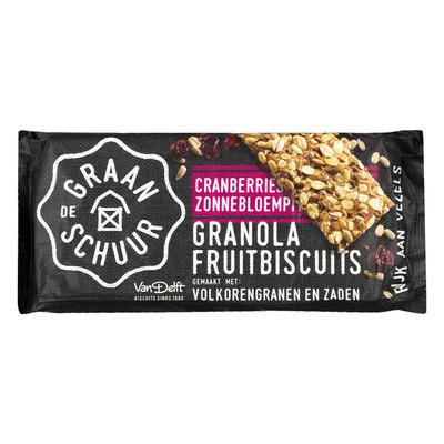 De Graanschuur Granola biscuits cranberry zonnebloempit