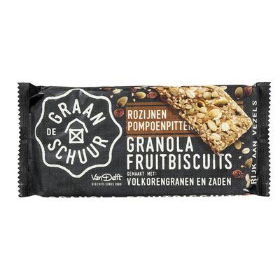 De Graanschuur Granola fruitbiscuit rozijnen pompoenpit