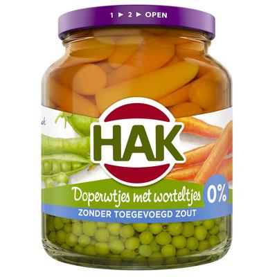 Hak Doperwtjes met worteltjes 0% zout