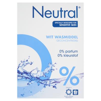 Neutral Waspoeder Wit Parfumvrij 18 Wasbeurten