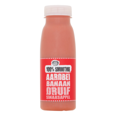 Fruity King 100% Smoothie Aardbei Banaan Druif Sinaasappel