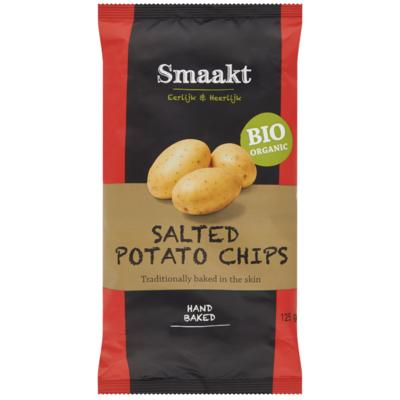 Smaakt Aardappelchips gezouten