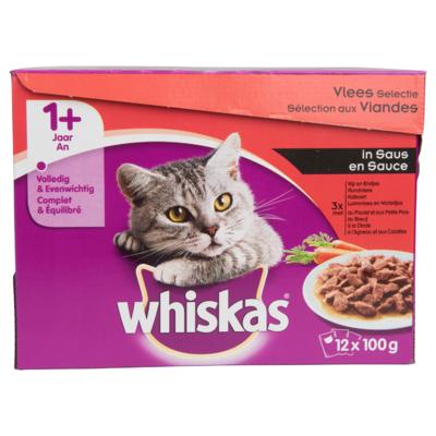Whiskas Kattenvoer vleesselectie in saus