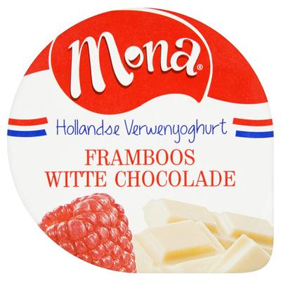 Mona Yoghurt Framboos Witte Chocolade 150 ml