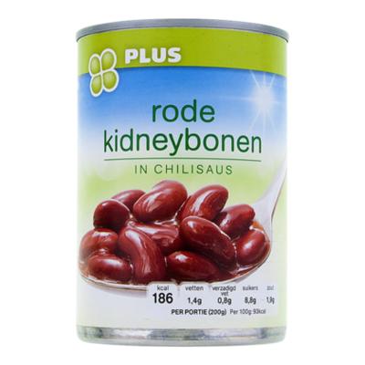 Huismerk Rode kidneybonen in chilisaus