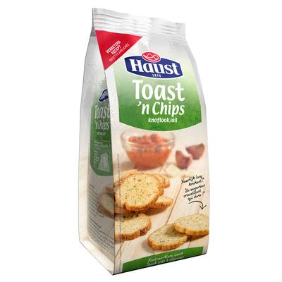 Haust Toast en chips knoflook