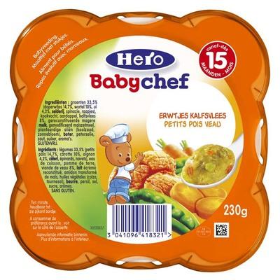 Hero Babychef erwtjes-kalf 15+
