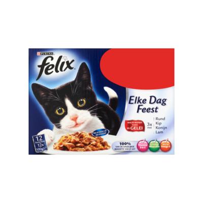 Felix Elke Dag Feest Malse Reepjes Vlees in Gelei