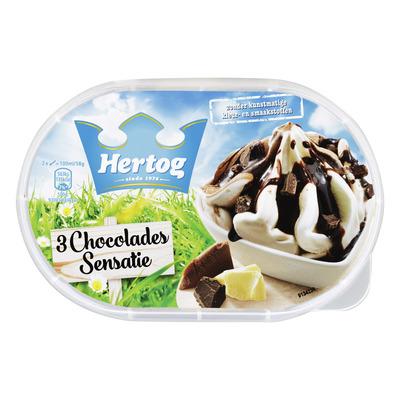 Hertog IJs 3 chocolades