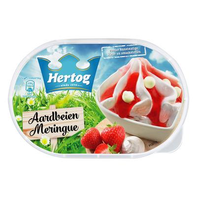 Hertog IJs aardbei meringue