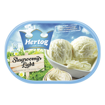 Hertog IJs slagroom light