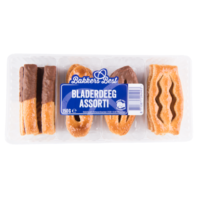 Bakkers Best Roomboter bladerdeegkoekjes met chocolade