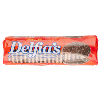 Van Delft Delfia's biscuits chocolade met suikertjes