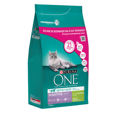 Purina ONE Purina bifensis sensitive kalkoen