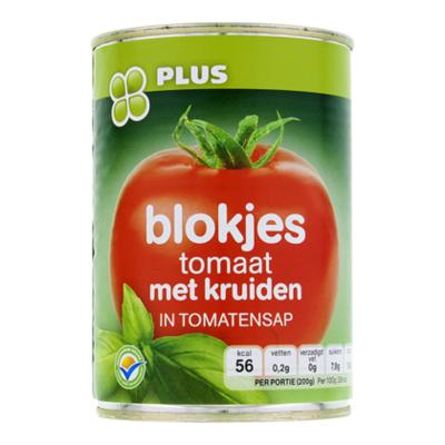 Huismerk Blokjes tomaat met kruiden