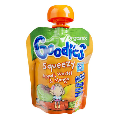 Organix Squeezy appel, wortel & mango 12+ mnd