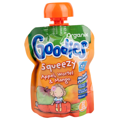 Organix Goodies squeezy appel-wortel-mango