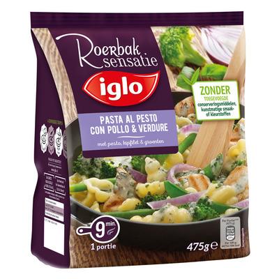 Iglo Roerbaksensatie pasta kip pesto groenten