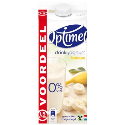 Optimel Drink voordeelverpakking banaan 0% vet