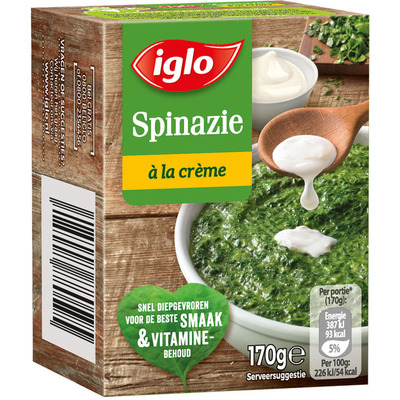 Iglo Spinazie à la crème