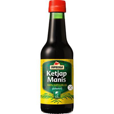 Inproba Ketjap manis 100% natuurlijk -glutenvrij