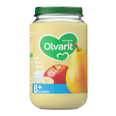 Olvarit Peer appel yoghurt 8+ mnd
