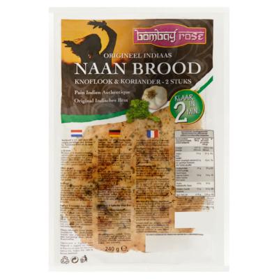 Bombay Rose Naanbrood knoflook en koriander