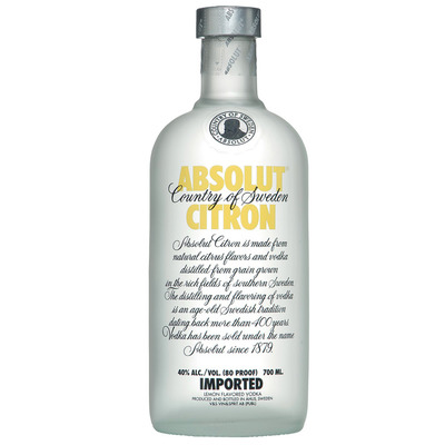Absolut Citron flavored vodka
