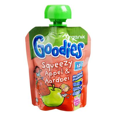 Organix Goodies Squeezy Appel & Aardbei 12 mnd