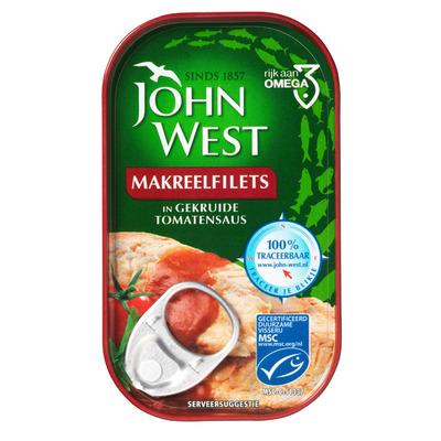 John West Makreelfilet in tomatensaus