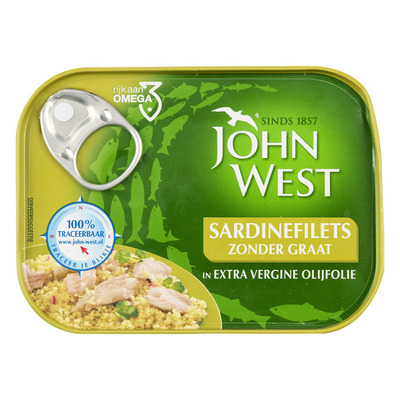 John West Sardinefilets extra vierge olijfolie